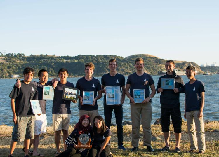 Many awards for the UBC SailBot team after IRSR 2014.