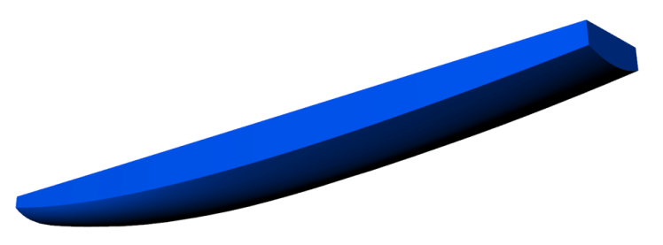 Figure 1 - Render from 3D CAD model of 2014 UBC SailBot hull