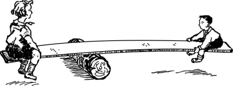 Figure 4 - The balance of weight multiplied by lever arm (image from wpclipart.com)